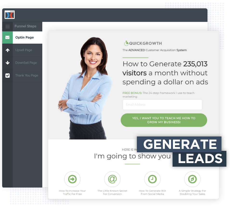ClickFunnels Generates leads